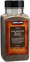 Kirkland Signature Fine Ground Black Pepper, 12.3 oz (2 bottle)