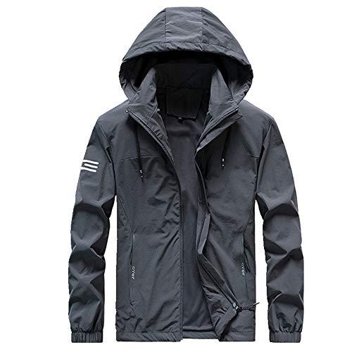 Chaqueta de los hombres abrigo de invierno de mediana edad y los jóvenes de primavera y otoño ropa de trabajo de gran tamaño con capucha ropa de estilo