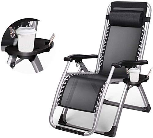 Lanrui Ocio Plegable sillas reclinables portátiles Tumbona Inicio Sunloungers con Transpirable for jardín Patio Plataforma Holiday Beach
