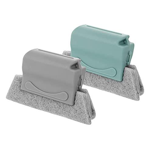 BBOOXX Window Door Groove,Cleaning Brush,Handle Gap Corner Cleaning Magic Brush For Door Bathroom Kitchen Window Slides Corners Gaps 2PS