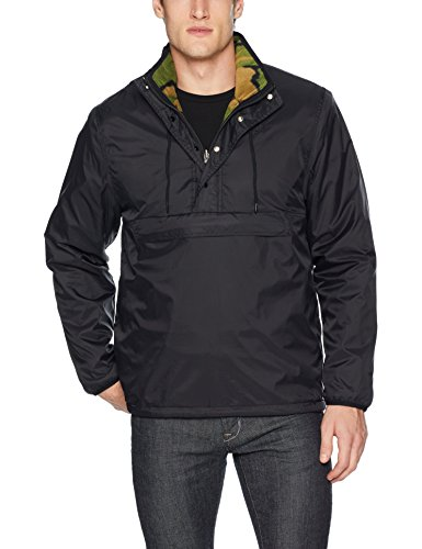 HUF Herren KUMO Reversible 1/4 Zip Jacket Jacke, schwarz, X-Large