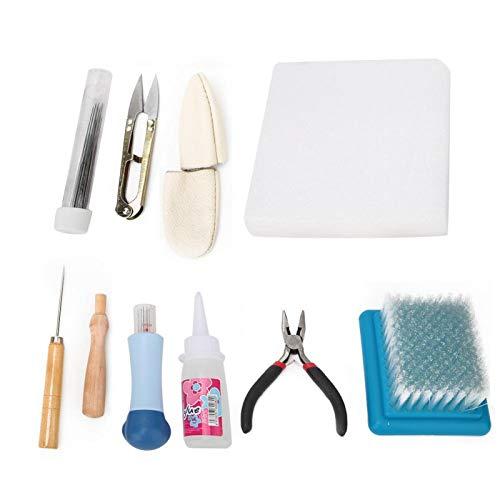 Awl Pilers Kit de herramientas de lana de fieltro con tijeras Kit de agujas de fieltro Aguja Suministros de fieltro Familia para manualidades