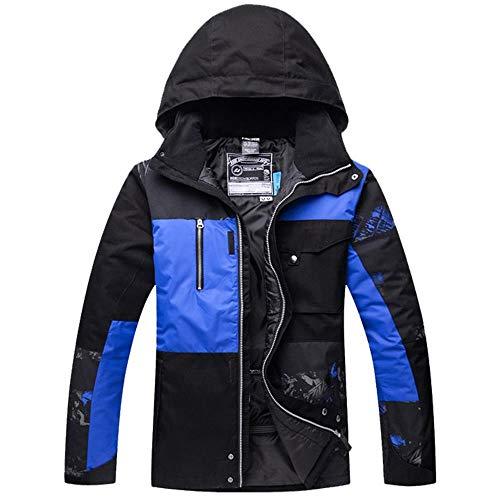 YABAISHI Herren Ski-Jacke wasserdicht Winddicht Winter-super Warmer Kleidung im Freien Sport Wear Reiten Skifahren Snowboard Thermal männlicher Mantel (Color, Size : S)