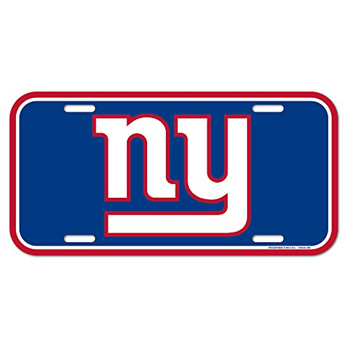 NFL New York Giants License Plate, Team Color, One Size