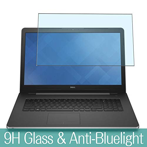 Synvy Anti Blue Light Tempered Glass Screen Protector for Dell Inspiron 17 5000 (5759) 17.3' Visible Area 9H Protective Screen Film Protectors
