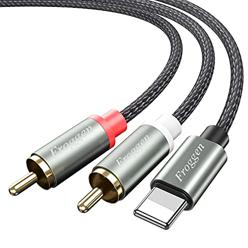 Adattatore cavo audio da 2RCA a Smartphone Cavo splitter stereo Cavo AUX RCA Y compatibile con Smartphone 12 SE 11 X XR XS 8 7 6, per Auto, Home Theater, Altoparlante, Amplificatore di Potenza