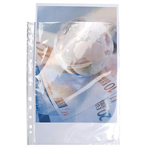 Exacompta - Réf. 5900E - Etui carton de 100 pochettes perforées polypropylène lisse haute résistance 9/100e - A4 - Cristal