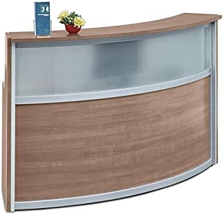 frosted glass reception desk