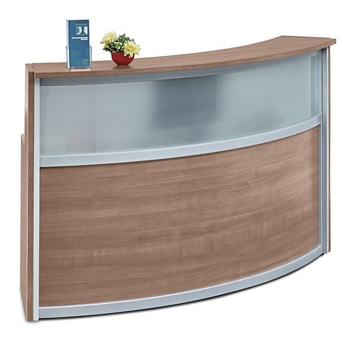Compass Reception Desk With Glass Panel