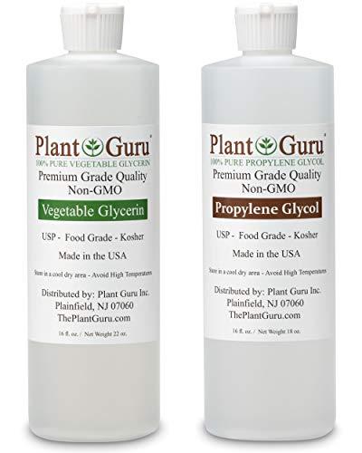 Vegetable Glycerin/Glycerine & Propylene Glycol 16 oz Value Pack Food Grade USP Kosher 100% Pure Highest Quality and Purity