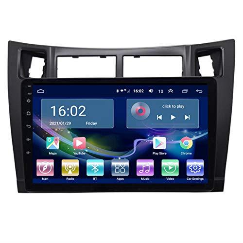 TIANDAO Android Autoradio Radio Doble DIN Sat Nav 2.5D Pantalla táctil Navegador GPS FM Am Reproductor de Control del Volante Adecuado para Toyota Yaris 2008-2011(Color:WiFi 1G+16G)