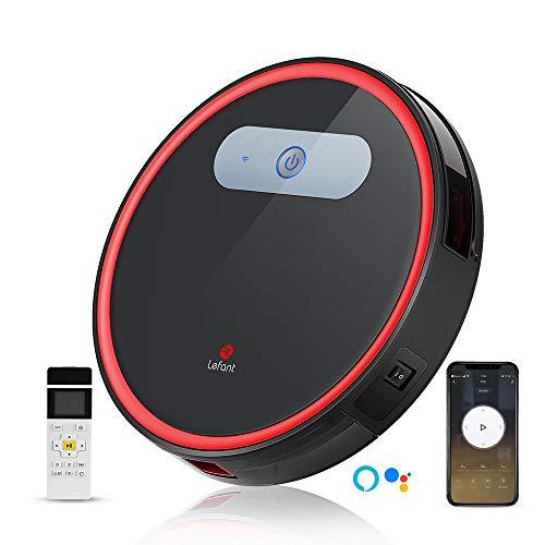 Staubsauger Roboter mit Freibewegung, WiFi-Steuerung Saugroboter Staubsauger, Kompatibel mit Alexa und Google, Selbstaufladung,Super Leise,Saugroboter Ideal für Haustierhaare, Lefant M501-B
