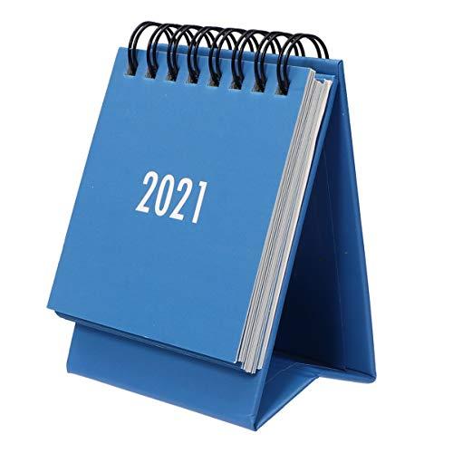NUOBESTY 1Pc Mini Calendario de Escritorio 2020-2021 Calendario de Escritorio de 18 Meses (2020. 7-2021. 12) Calendario Creativo de Calendarios de Mesa de Calendario para El Hogar de La