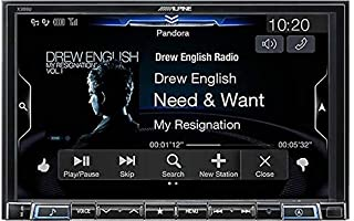 Alpine X308U High Resolution 8-Inch Mech-Less Apple Car Play & Android Auto w/Built-in 3D & 2D Navigation Touch Screen Dig...