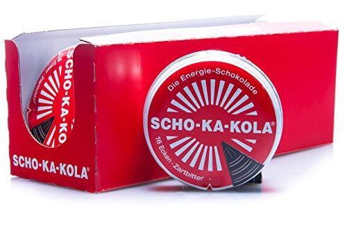 12 x 100 g Scho-Ka-Kola Zartbitter, Energieschokolade, koffeinhaltig