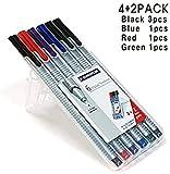 Staedtler Triplus Fineliner Pens 6 Color in Case, 0.3mm, Metal...