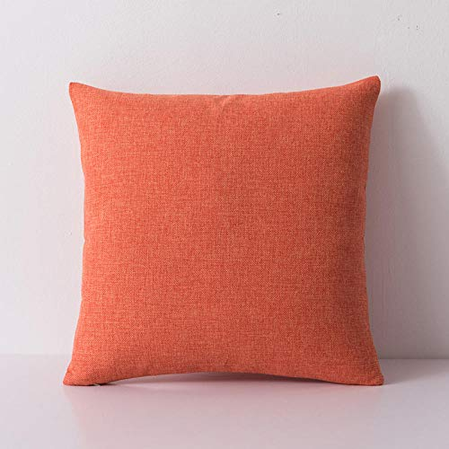 WANGLUYAO Kissenhülle Herbst Plain dicken Sofa Kissenbezug quadratischen Kissen einfarbig Leinen Stil Wohnzimmer Schlafzimmer Kinderzimmer dekorative Kissenbezug, 2er Pack-G_50x70cm