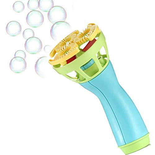 Abimy Máquina eléctrica de varitas de burbujas, ventilador automático de burbujas Mini ventilador al aire libre juguetes para niños