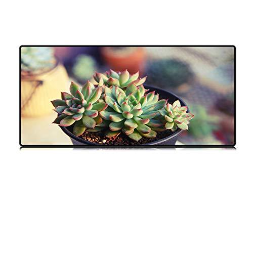 Milieuvriendelijke plant grote muismat blokkering groen sappige pot laptop bureau pad rubber universeel antislip