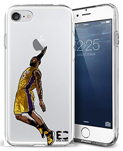 iPhone 6/6S iPhone 7/iPhone 8 Hülle Epic Cases Ultra Slim Crystal Clear Basketball Series Soft Transparent TPU Case Cover Apple (iPhone 6/6s) (iPhone 7) (iPhone 8), iPhone 6/7/8, LBJ