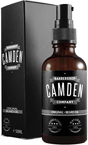 """Aceite para barba """"ORIGINAL"""" de Camden Barbershop Company ● cuidado de la barba completamente natural ● refrescante y suavizante ● 50 ml"""