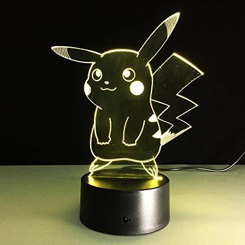 Luz nocturna LED de Pokemon, luces nocturnas multicolor, figuras de acción de juguete para niños regalos