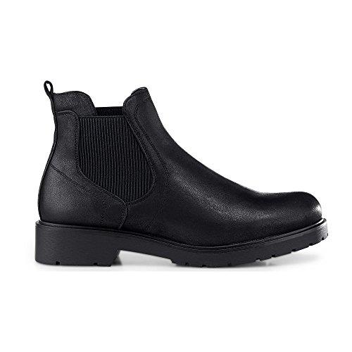 Cox Damen Chelsea-Boots Schwarz Synthetik 39