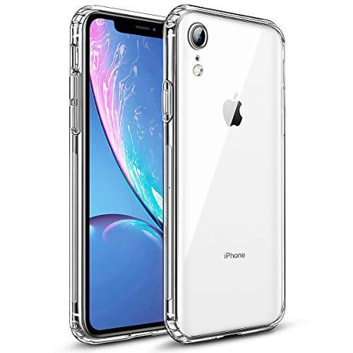wsky Crystal Clear Kompatibel mit iPhone XR Hülle, Anti-Gelb Dünn Schutzhülle, Kratzfest Durchsichtige Case Cover, Hohe Zähigkeit Soft TPU Silikonhülle, Weich Transparent Handyhülle für iPhone XR