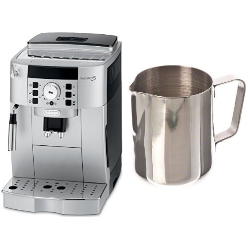 DeLonghi ECAM22110SB Compact Automatic Cappuccino, Latte and Espresso Machine and Update International (EP-12) 12 Oz Stainless Steel Frothing Pitcher Bundle