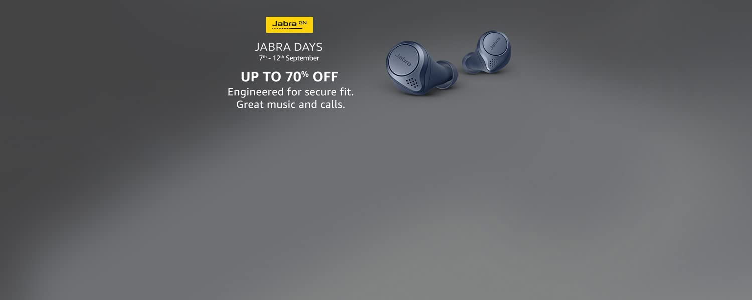Amazon Offers Today-Coupons-Promo Codes - Jabra Days – Get Up to 70% Off on Jabra Earbuds, HeadPhones and more