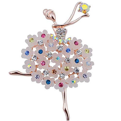 Belons dames meisjes broche kristal strass legering ballerina danseres speld bruid broche pin sieraden accessoires