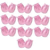 10ペアの新生児用手袋0〜6か月間スクラッチコットンミトンなしベビーボーイズガールズ
