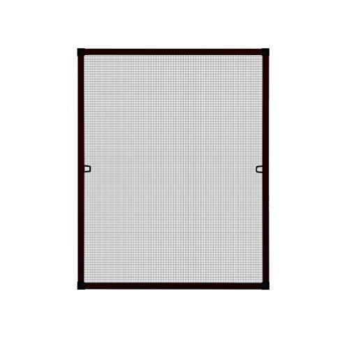 Fliegengitter Insektenschutz Fenster Alu Rahmen Bausatz 120 x 140 cm braun