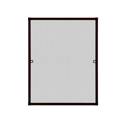 Fliegengitter Insektenschutz Fenster Alu Rahmen Bausatz 130 x 150 cm braun