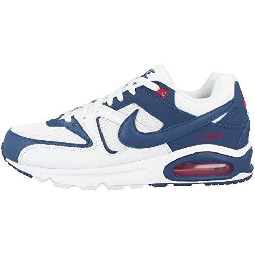 Nike Air MAX Command, Sneaker Mens, White/Mystic Navy-Cardinal Red, 47.5 EU