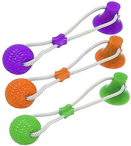 con Ventosa Resistente a Masticar Juguete para morder Molar Juguete de Bola para Perro EliteMill Juguete para Masticar para Mascotas multifunci/ón