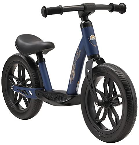 BIKESTAR Bicicleta sin Pedales Muy Ligera para niños y niñas | Bici 12' Pulgadas a Partir de 3-4 años | Eco Clásica Azul Oscuro