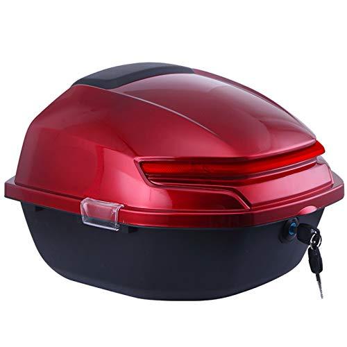 ZXCASDF Topcase Motorradkoffer, Top Case Universal, Für Roller, Motorrad, Mofa & Quad Aufbewahrungskofferroller Kann Helme,Wine red