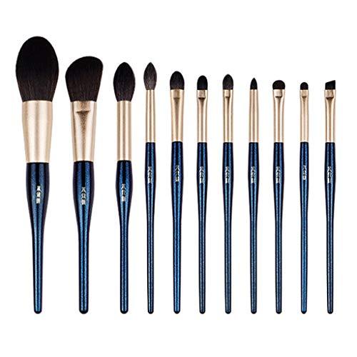 Pinceaux de maquillage 11 Pcs Prime Synthétique Maquillage Pinceaux Bleus Pinceaux Pour Fondation Kabuki Blush Concealer Eyeshadow