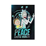 JKLM Póster de anime Best Rick And Morty In The Space Posters para pared, 30 x 45 cm