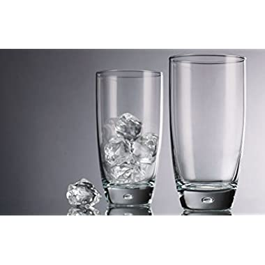 Home Essentials & Beyond Above the Bar Set of 4 Hiball 16 Oz Glasses Drinking Glassware Perfect for Home Parties Weddings & Bars for Wine, Soda, Juice, Beer, Alcoholic or Water Clear