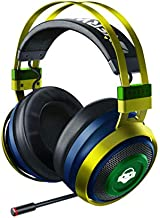 Razer Nari Ultimate Wireless 7.1 Surround Sound Gaming Headset: THX Audio & Haptic Feedback, Auto-Adjust Headband, Chroma RGB, Retractable Mic, for PC, PS4, PS5, Overwatch Lucio Edition
