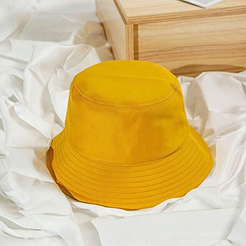 Sombrero de Cubo Plegable de Verano Neutral para Mujer, Protector Solar para Exteriores, algodón, Pesca, Caza, Sombrero para Hombre, Diadema, Sombrero de protección Solar-Turmeric-Adult