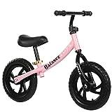 CBPE Magnesium (Superleicht) Kinderlaufrad Lauflernrad Kinderrad Für Jungen Und Mädchen Ab 2-6 Jahre   12 Zoll Kinder Laufrad BMX, Ultraleicht,Rosa