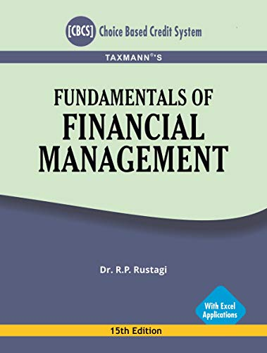 Taxmann's Fundamentals of Financial Management-With Excel Applications (CBCS)(15th Edition August 2020)