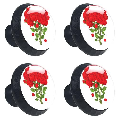 FURINKAZAN Manija Armario de Cocina Puerta Perillas Cajón Armarios Tiradores Tirador Ropa Gancho Moderno Simple Rosa Rojo Hermosa