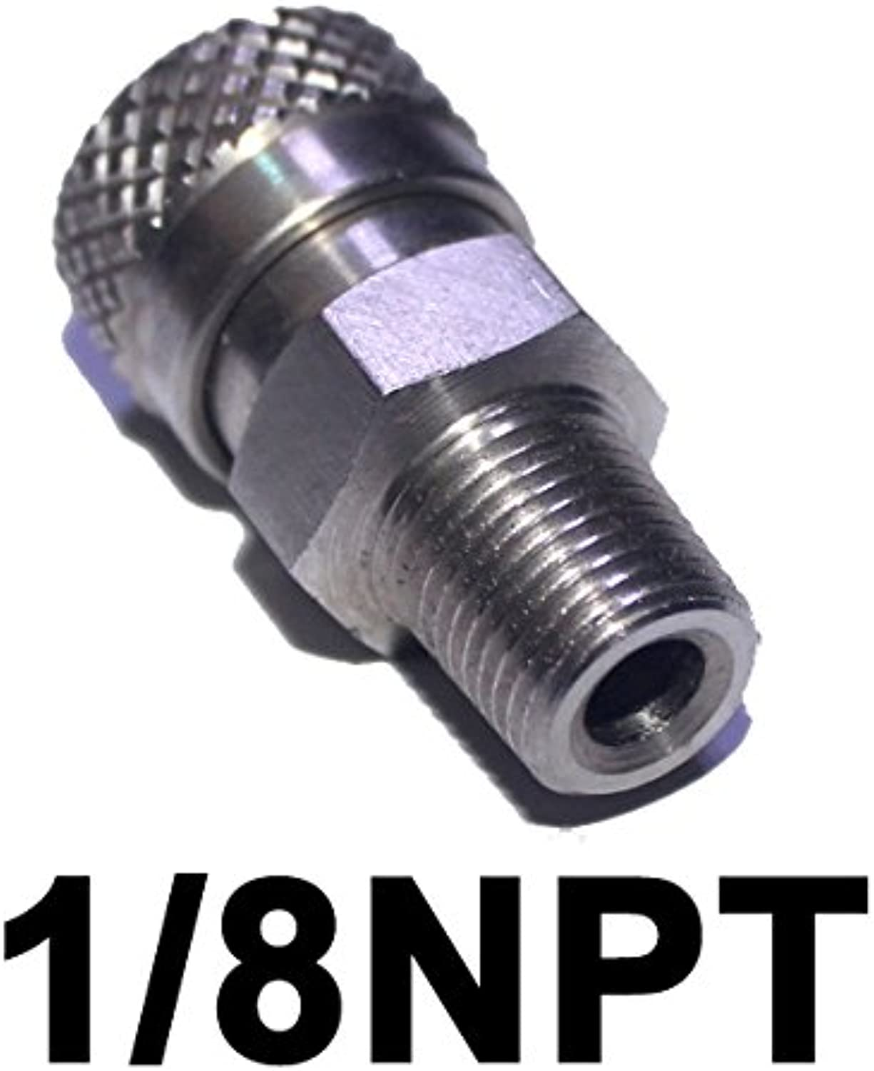 Outdoor Guy PCP Air Rifle 8mm Stainless Quick Release Disconnect Coupler Fitting Female Socket for Filling (1 8NPT)