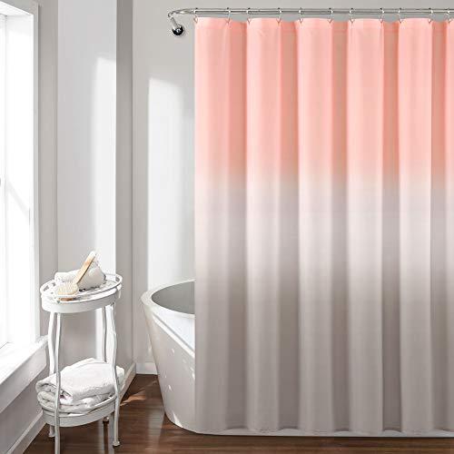 "Lush Decor, Blush and Gray Umbre Fiesta Shower Curtain, 72"" x 72"""