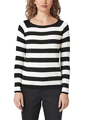 s.Oliver Damen 14.810.61.5636 Pullover, Schwarz (Black Stripes 99G0), 46