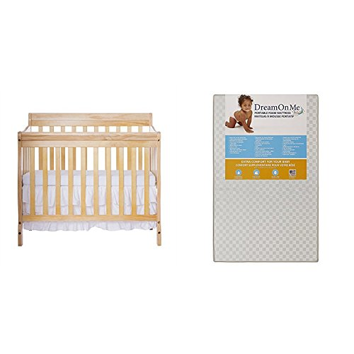 Dream On Me Aden 4-in-1 Convertible Mini Crib...